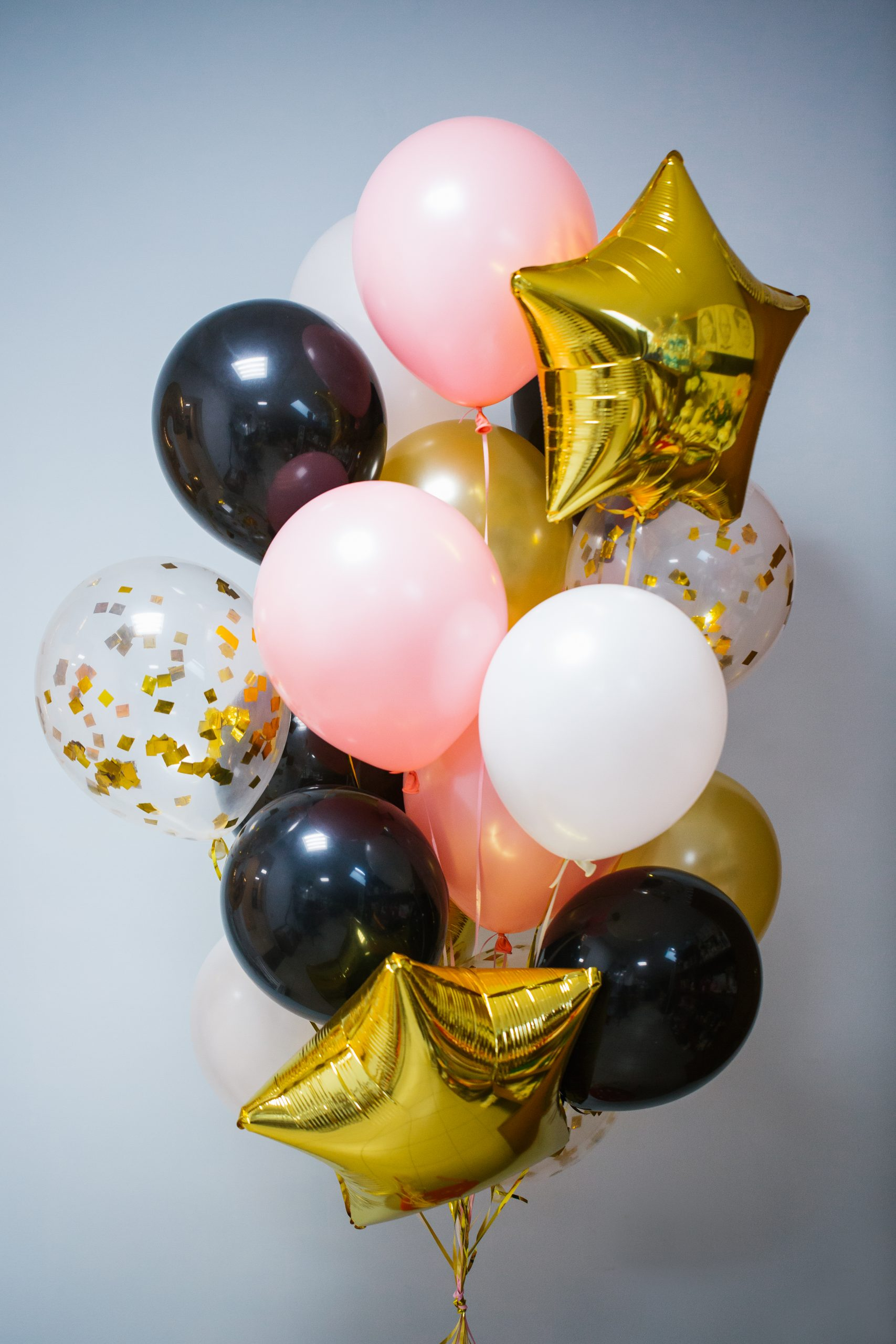 Fountain,Of,Balloons,,Pink,,Gold,,Black
